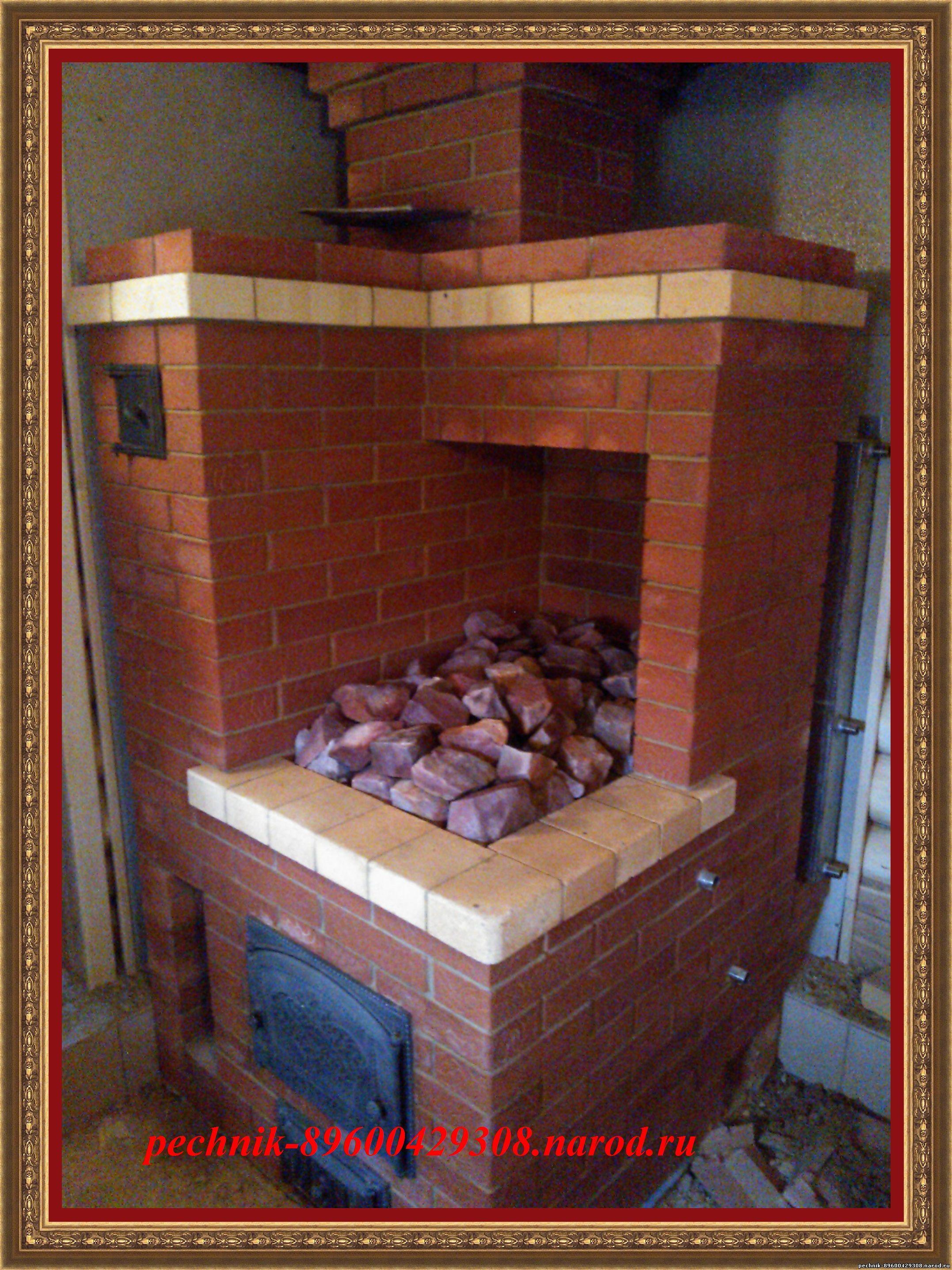 Печь для бани из кирпича с баком своими руками 99